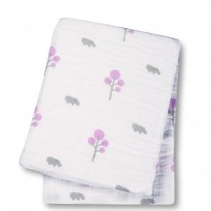 Pink Hippo Muslin Cotton