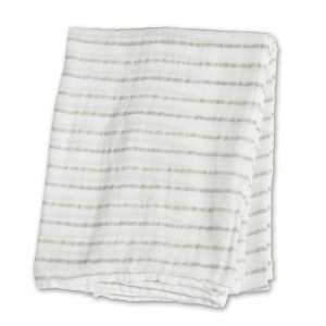 Grey Messy Stripe Muslin Cotton