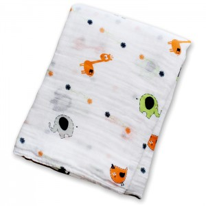 Giraffes Muslin Cotton