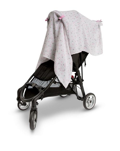 9d3ac21a2541 Используйте муслиновые простынки для пеленания или в качестве накидки для  коляски или автокресла. Подходящие по цвету клипсы помогут прочно закрепить  ...